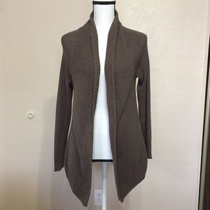 Vince Camuto Brown Textured Open Cardigan